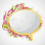Floral Speech Bubble Royalty Free Stock Photo