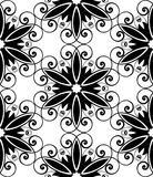 Floral spiral black white Royalty Free Stock Images