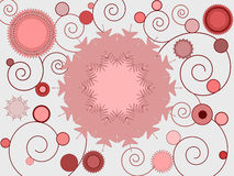 Floral and spiral design Stock Image