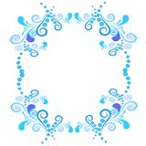 Floral and spiral elements border frame. Vector. Stock Image