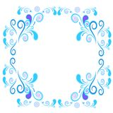 Floral and spiral elements border frame. Vector. Stock Photo