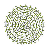 Floral spiral ornament, hand drawn sketch for your design Stock Images