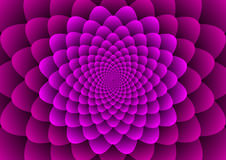 Floral spirals purple Royalty Free Stock Image