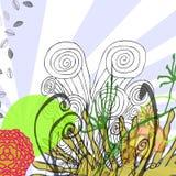 Floral Splash stock illustration