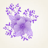 Floral spring background with swirls and flowers Royalty Free Stock Images