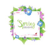Floral spring banner Royalty Free Stock Photo
