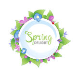Floral spring banner Stock Photo
