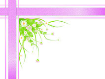 Floral spring border. With copy space.  illustration Royalty Free Stock Photo