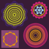 Color  mandalas and optical illusions Stock Image