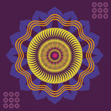 Optical illusions in color mandala Royalty Free Stock Photography