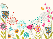Floral spring design. Floral design with space for your text Stock Image