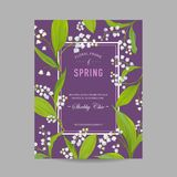 Floral Spring Design Template for Wedding Invitation, Greeting Card, Sale Banner, Poster, Placard, Cover Royalty Free Stock Image