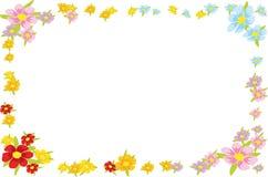 Floral spring frame Stock Image