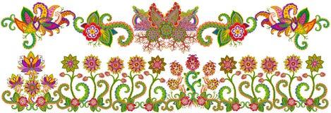 Floral  Spring Garden border. Royalty Free Stock Image