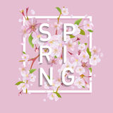 Floral Spring Graphic Design Royalty Free Stock Image