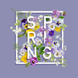 Floral Spring Graphic Design Stock Photo