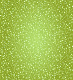 Floral spring pattern. Decorative green branches b Stock Photo