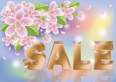 Floral Spring sale sakura background Royalty Free Stock Photos