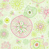 Floral spring seamless pattern Stock Images