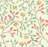 Floral Spring Seamless Pattern Stock Photography