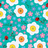 Floral spring seamless vector background Royalty Free Stock Photo