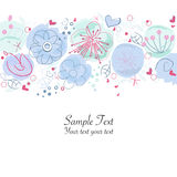 Floral springtime greeting card vector Stock Image