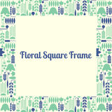 Floral square frame Royalty Free Stock Photo