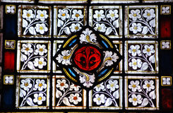 Floral stained glass Stock Image