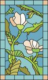 Floral Stained Glass Royalty Free Stock Photos