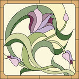 Floral stained-glass pattern Stock Photos