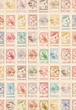 Floral stamp  background Royalty Free Stock Image