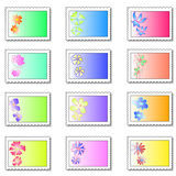 Floral stamps Stock Photography