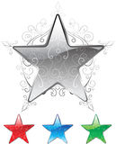 Floral Star. Star with flowery design pattern stock illustration