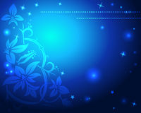 Floral and starry background Royalty Free Stock Photo