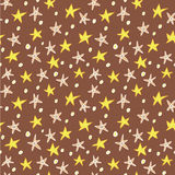 Floral Stars Seamless Pattern Royalty Free Stock Photo