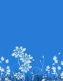 Floral Stationery. Blue floral stationery vector illustration