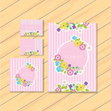 Floral stationery Stock Photography