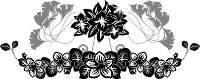 Floral stencil pattern set Royalty Free Stock Photography