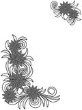 Floral stencils over white. Stylized floral stencils isolated on the white background, hand drown vector illustration as a simple postcard Royalty Free Stock Images