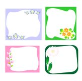 Floral stickers Royalty Free Stock Image
