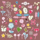 Floral stickers Stock Image