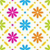 Floral stitches stock illustration