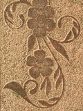 Floral stone surface Stock Photography