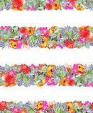 Floral Stripe Print Stock Photos