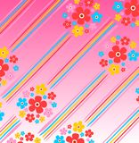 Floral striped background Stock Photography