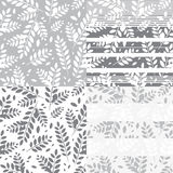Floral striped pattern vector illustration