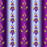 Floral striped seamless pattern. Flower iris background. Stock Photos