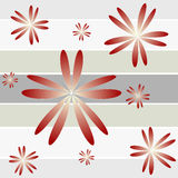 Floral stripes Royalty Free Stock Image