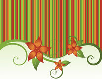 Floral Stripes Background Royalty Free Stock Photos