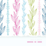 Floral stripes vertical horizontal torn seamless Royalty Free Stock Images